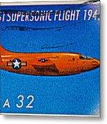 1997 First Supersonic Flight Stamp Metal Print