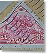 1997 Pacific Stagecoach Stamp Metal Print