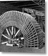 19th C Egyptian Hydraulic Factory Metal Print
