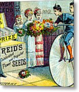19th C. Reid's Flower Seeds Metal Print