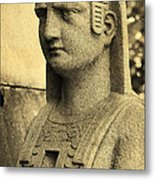 19th Century Granite Stone Sepia Sphinx Bust Poster Look Usa Metal Print