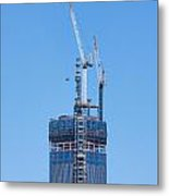 1wtc Antenna Erection Metal Print