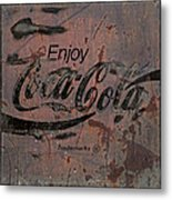 Coca Cola Sign Grungy Retro Style Metal Print