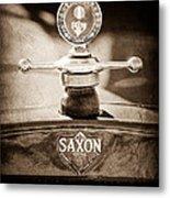 1915 Saxon Roadster Hood Ornament Metal Print