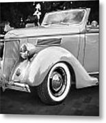 1936 Ford Cabriolet Bw  Metal Print