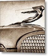 1937 Cadillac V8 Hood Ornament Metal Print