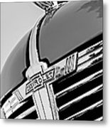 1938 Chevrolet Coupe Hood Ornament -0216bw Metal Print