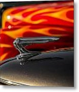 1939 Graham Coupe Hood Ornament Metal Print by Ron Pate