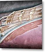 1949 Plymouth Hood Ornament Metal Print by Jill Reger