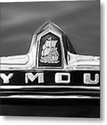 1949 Plymouth P-18 Special Deluxe Convertible Emblem Metal Print by Jill Reger
