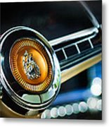 1949 Plymouth P-18 Special Deluxe Convertible Steering Wheel Emblem Metal Print