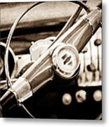 1951 Chevrolet Convertible Steering Wheel Metal Print