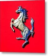 1954 Ferrari 500 Mondial Spider Series I Emblem Metal Print
