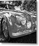 1954 Jaguar Xk 120 Se Ots  Bw Metal Print