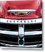 1955 Chevrolet 3100 Pickup Truck Grille Emblem Metal Print