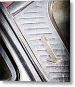 1955 Lincoln Capri Emblem Metal Print