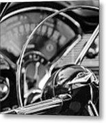 1956 Chevrolet Belair Steering Wheel Metal Print
