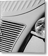 1956 Citroen 2cv Grille -0081bw Metal Print