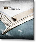 1956 Ford Crown Victoria Glass Top Emblem Metal Print