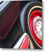 1957 Ford Fairlane Convertible Wheel Emblem Metal Print