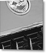 1958 Chevrolet Corvette Hood Emblem Metal Print