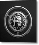 1961 Alfa Romeo Giulietta Sprint Veloce Series II Emblem -1045bw Metal Print