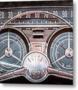 1959 Buick Lesabre Steering Wheel Metal Print