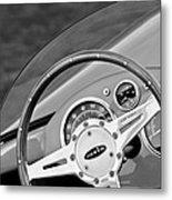 1959 Devin Ss Steering Wheel Metal Print