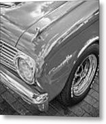 1963 Ford Falcon Sprint Convertible Bw  Metal Print