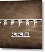 1967 Ferrari 330 Gtc Emblem Metal Print