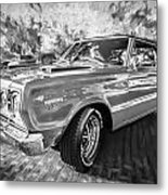 1967 Plymouth Belvedere Gtx 440 Painted Bw Metal Print