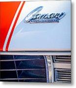 1969 Chevrolet Camaro Rs-ss Indy Pace Car Replica Hood Emblem Metal Print