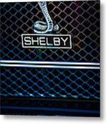 1969 Shelby Gt500 Convertible 428 Cobra Jet Grille Emblem Metal Print