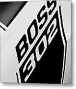 1970 Ford Mustang Boss 302 Emblem Metal Print