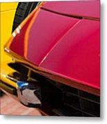 1971 Ferrari 365 Gtb-4 Daytona Spyder Hood Emblem Metal Print