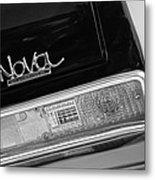 1972 Chevrolet Nova Ss Taillight Emblem -0355bw Metal Print