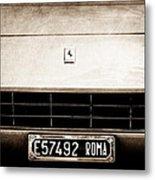 1972 Ferrari 365 Gtb -4a Grille Emblem Metal Print
