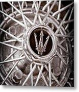 1972 Maserati Ghibli 4.9 Ss Spyder Wheel Emblem Metal Print