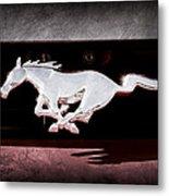 1994 Ford Mustang Corbra Custom Convertible Emblem Metal Print