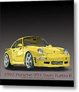 1997 Porsche  993 Twin Turbo Metal Print