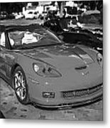 2010 Chevrolet Corvette Grand Sport Bw  Metal Print
