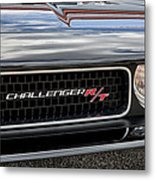 2011 Dodge Challenger Rt Black Metal Print