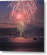 2014 4th Of July Firework Celebration.  Metal Print