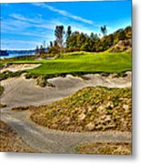 #3 At Chambers Bay Golf Course - Location Of The 2015 U.s. Open Championship Metal Print by David Patterson