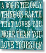 A Dog Metal Print by Debbie DeWitt