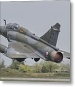 A French Air Force Mirage 2000d Taking Metal Print