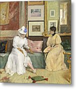 A Friendly Call Metal Print by William Merritt Chase