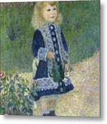 A Girl With A Watering Can Metal Print