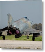 A Hellenic Air Force F-4e Phantom Metal Print
