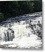 A Lovely View Of A Falls On Kayaderosseras Creek Metal Print